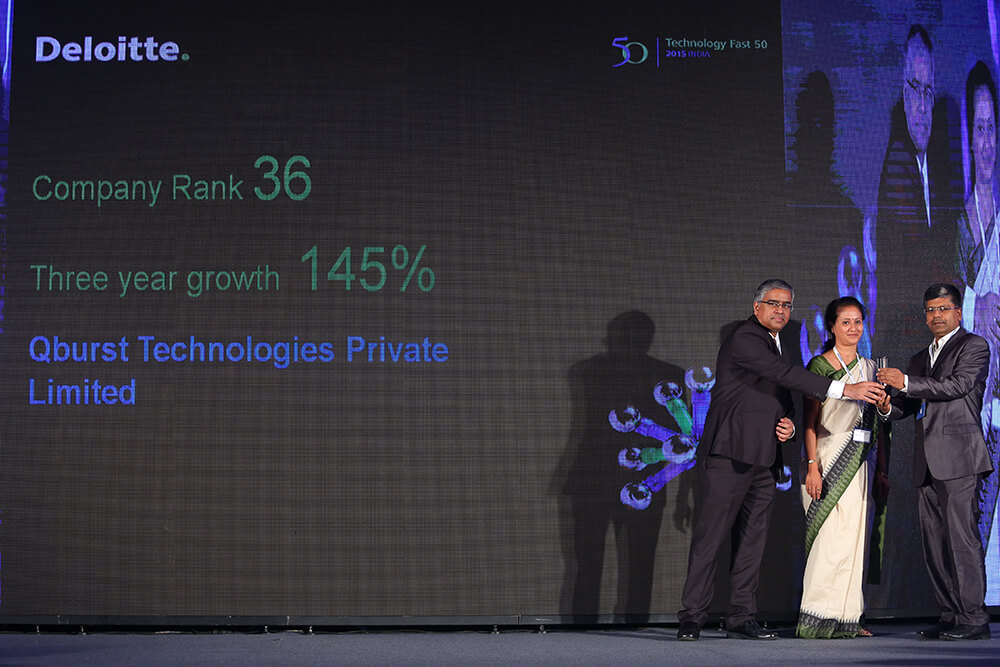 QBurst wins Deloitte's Fast 50 India Award