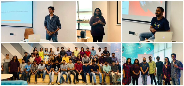 QBurst speakers at GDG Trivandrum meetup